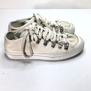 JW Anderson white canvas sneakers sz 39